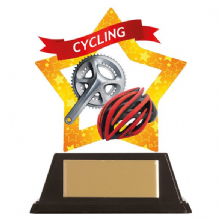 Cycling-Helmet Mini-Star Acrylic Award